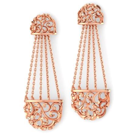 Chained Filigree Drop Earrings