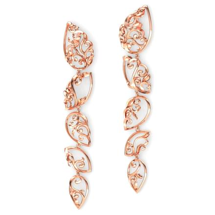 Raindrop Filigree Drop Earrings