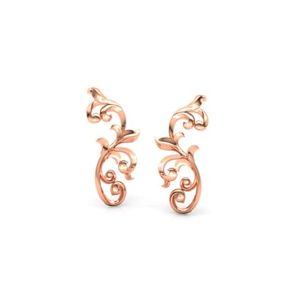 Curved Filigree Earcuff Earrings