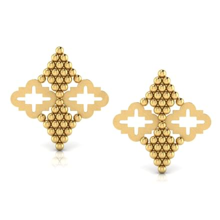 Mirrored Jharokha Stud Earrings