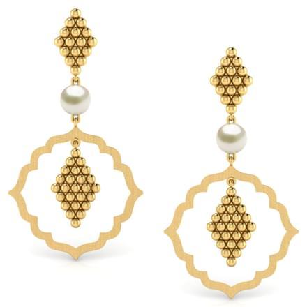 Framed Jharokha Chandelier Earrings