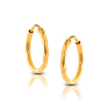 Ava Faceted Kid's Hoop Earrings