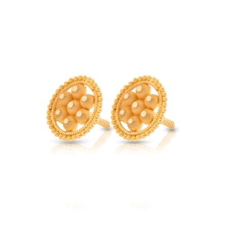 Granulated Cluster Stud Earrings