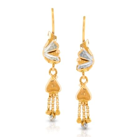 Dual Tone Drop Earrings