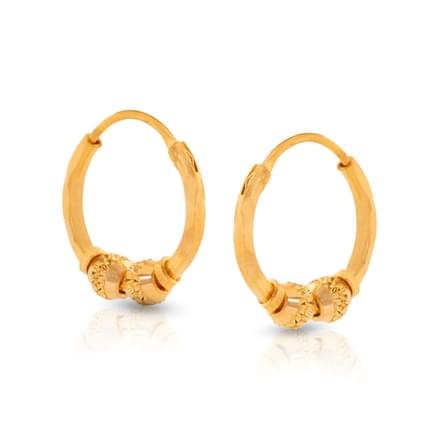 Duo Bead Hoop Earrings