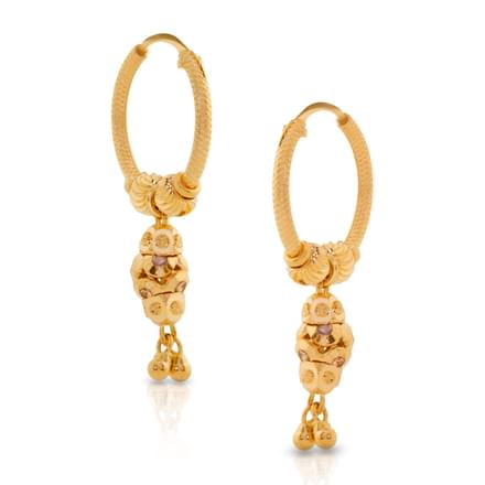 Golden Bunch Hoop Earrings