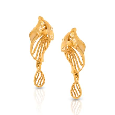 Enfolded Wire Stud Earrings