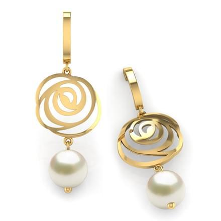 0352ae534 Rose & Pearl Drop Earrings Jewellery India Online - CaratLane.com