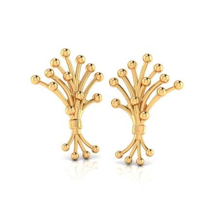 Pollen Gold Stud Earrings