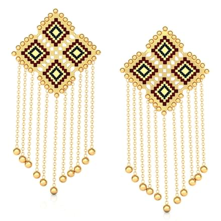 Graduating String Gold Drop Earrings