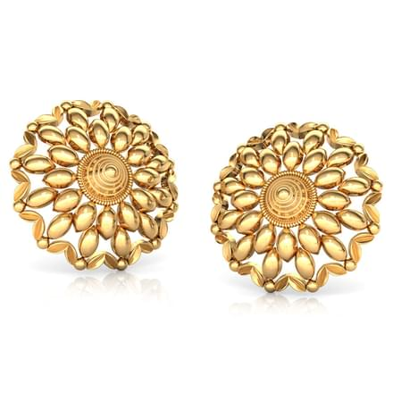 Encircle Floret Gold Stud Earrings