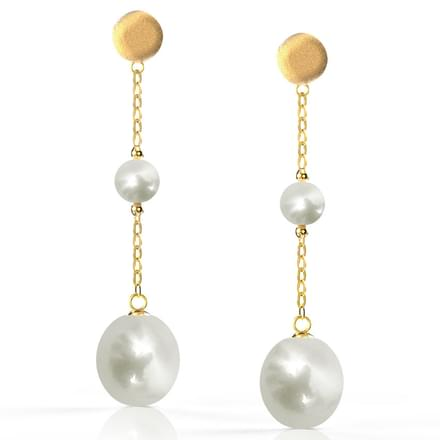 Sleek Pearl Drop Earrings