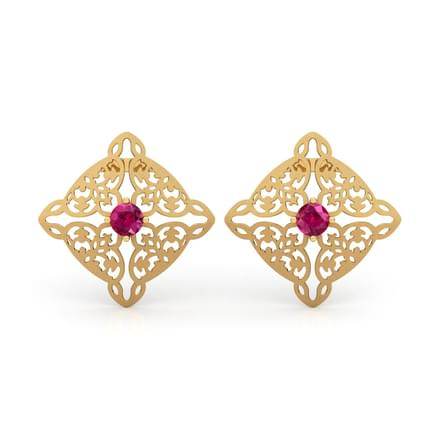 Sheesh Ornate Mural Stud Earrings