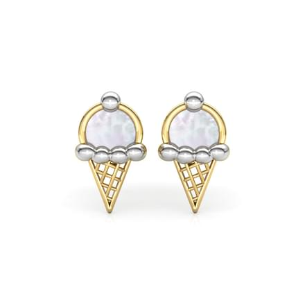 Ice Cream Mother of Pearl Stud Earrings