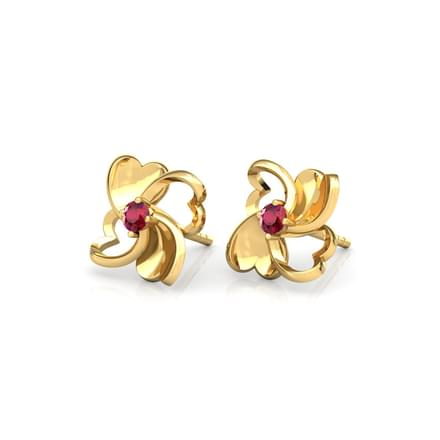 Heart Quad Stud Earrings