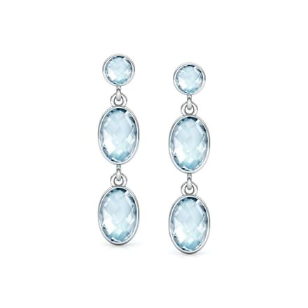 Topaz Dew Drop Earrings