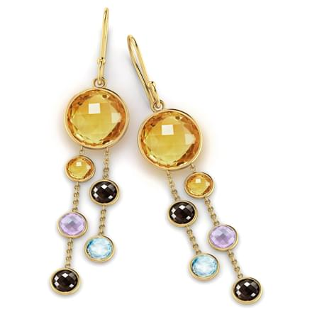 Orb Gemstone Drop Earrings