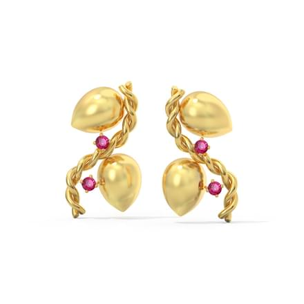 Double Twist Stud Earrings