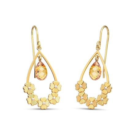 Floral Pear Drop Earrings