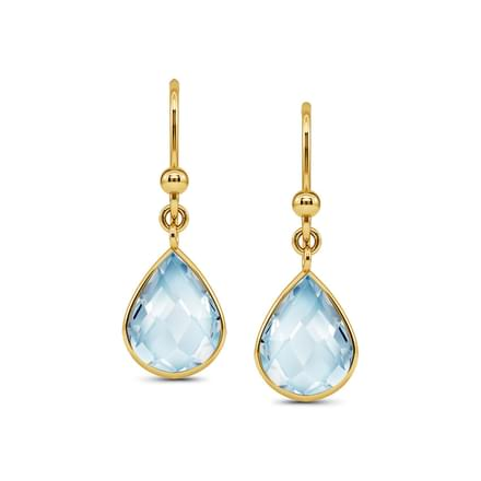 Poire Topaz Drop Earrings