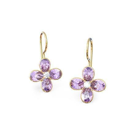 Purple Crush Drop Earrings