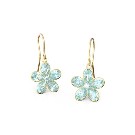 Topaz  Floret Drop Earrings
