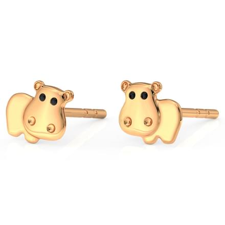 Hippo Stud Earrings