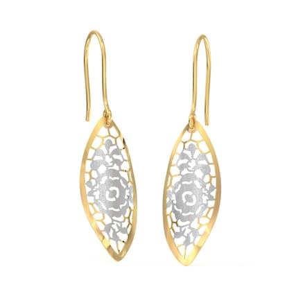 Floret Cutout Drop Earrings