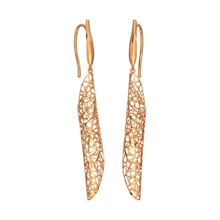 8167ec1a4d2 Wave Leaflet Drop Earrings. Contemporary Gold Earrings