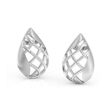 Pear Lattice Stud Earrings
