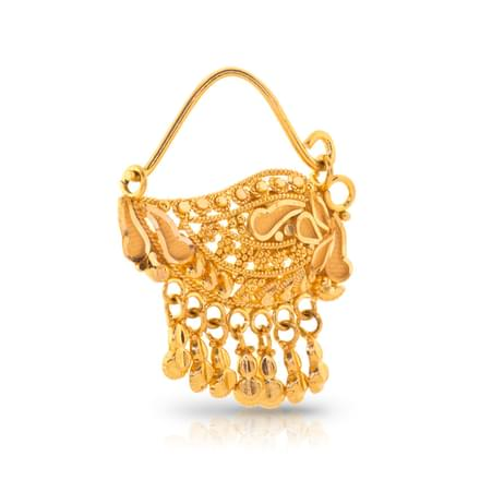 Anuya Beaded Gold Nath