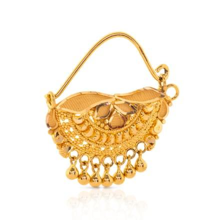 Joly Beaded Gold Nath
