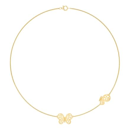 Butterfly Cutout Necklace