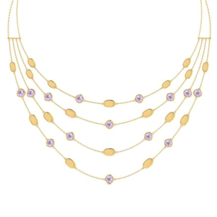 Sandy Stamped Necklace