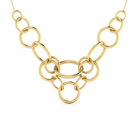 Meshed 'O' Necklace