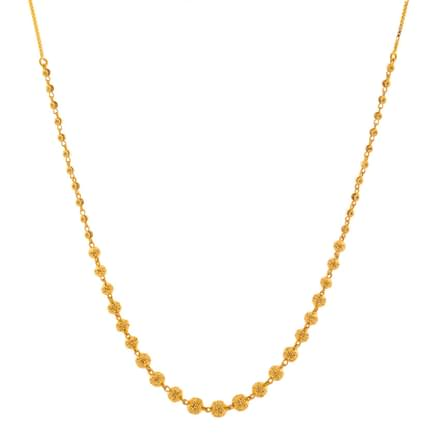 Briti Beaded Gold Necklace