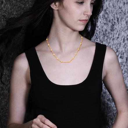 Seina Texture Bead Necklace