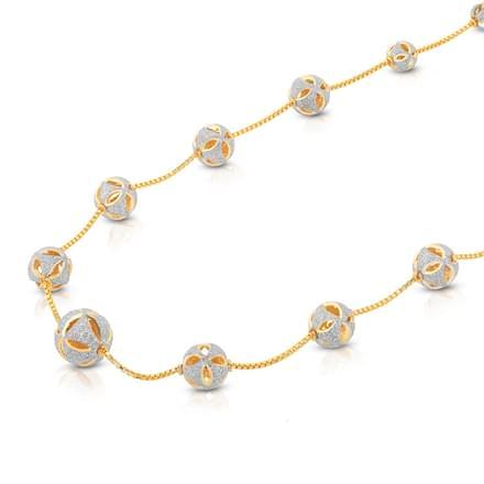 Cutout Ball Necklace