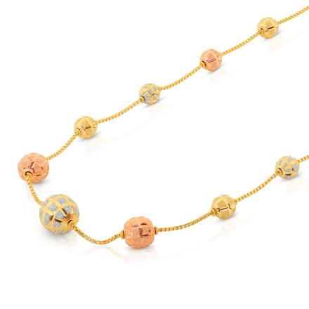 Groove Bead Necklace