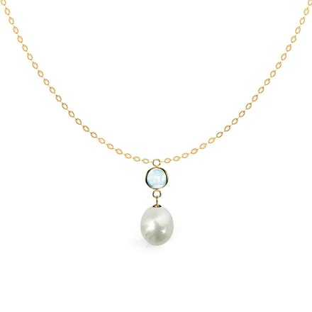 Spherical Pearl Drop Necklace