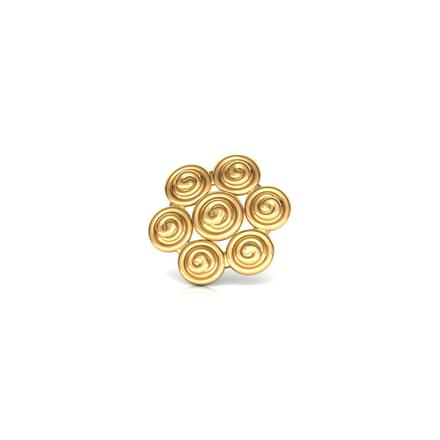 Swirl Gold Nose Pin