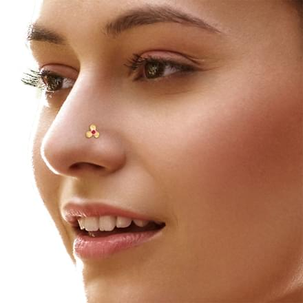 Veena Bloom Nose Pin