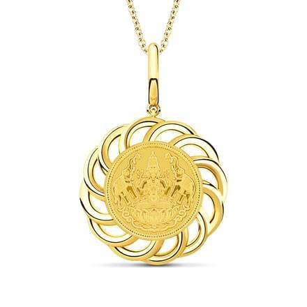 Swirls Lakshmi Coin Pendant