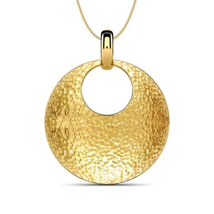 Hammered round pendant jewellery india online caratlane hammered round pendant mozeypictures Image collections