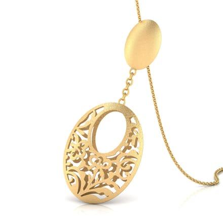 150 gold pendants designs buy gold pendants price rs 4072 ava oval cutout gold pendant aloadofball Images