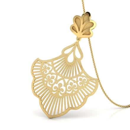 Lyle Cutout Gold Pendant