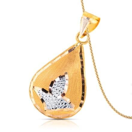 Hita Droplet Gold Pendant