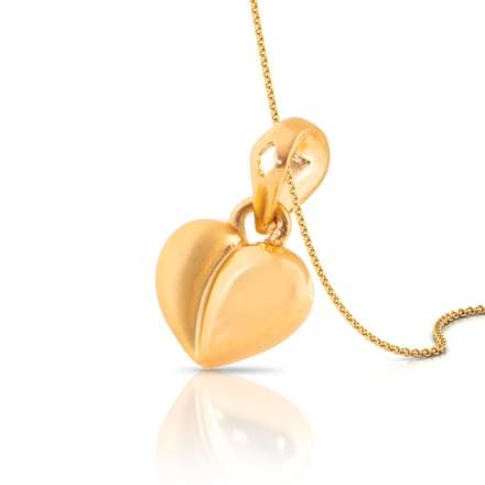 Dual Finish Heart Pendant
