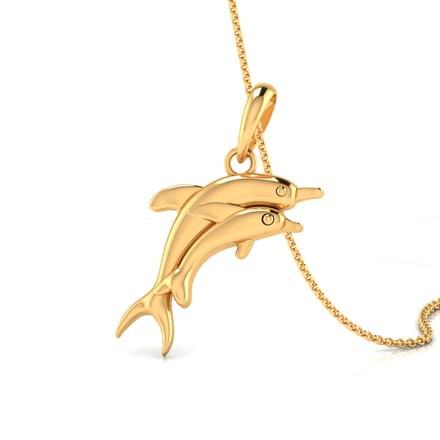 Duo Dolphin Pendant
