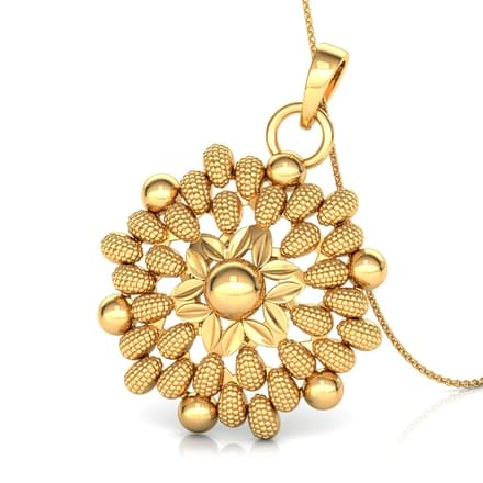 Drop and Bead Gold Pendant
